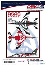 Decals Alpha Jet - Asas Portugal Aerobatic Team - 1/72 Scale