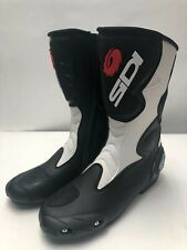 SIDI FUSION motorcycle boots BLACK WHITE MOTORCYCLE SPORT BOOT SIZE 48