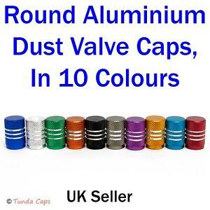 Round Alloy Quality Valve Dust Caps Covers Tyre Wheel Bike Car Motorbike BMX