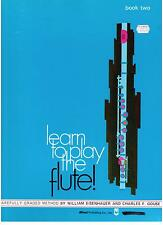 LEARN TO PLAY the FLUTE, BOOK 2, by Eisenhauer & Gouse, NEW FLUTE MUSIC BOOK.