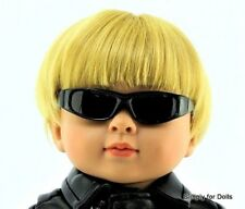 """BOY'S BLACK Shades DOLL SUNGLASSES fits 18"""" AMERICAN GIRL Doll Clothes"""
