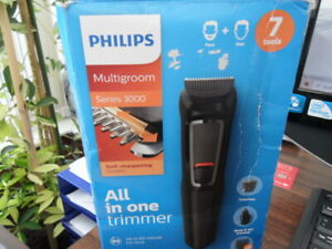 Phillips 7-in-1 All-In-One Trimmer, Series 3000 Grooming Kit for Beard & Hair