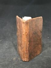 1836 Christliches Gemuthes Gesprach Early German Prayer Book Leather Clasp PA