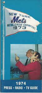 1974 New York Mets Press Radio TV Guide