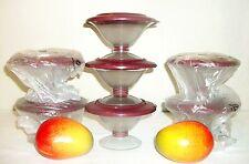 Tupperware NEW Host Award JEWEL Gem ~7 Preludio acrylic Dessert Dishes ~RUBY RED
