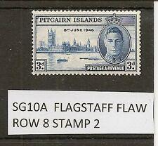 PITCAIRN ISLAND 1946 VICTORY FLAGSTAFF FLAW SG10A MINT