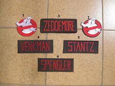 6 PCS GHOSTBUSTER ZEDDEMORE VENKMAN STANTZ SPENGLER NAME TAG PATCH BADGE