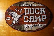 New listing Welcome To Duck Camp Rustic Hunter Log Cabin Hunting Lodge Home Decor Sign New
