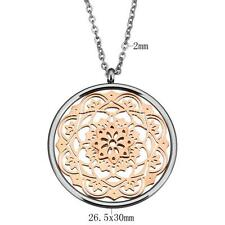 Charm Women Lady Plated Hollow Flower Stainless Steel Jewelry Necklace Chain