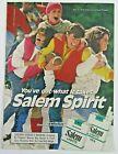 1984 SALEM LIGHTS & SALEM LIGHTS 100's Cigarettes Co-ed Football Magazine Ad