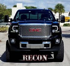 RECON Smoked Projector Headlights 264295BKC 2014-2016 GMC Sierra 1500 2500 3500