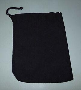 "Genuine Scrabble Drawstring Black Cloth Tile Letter Storage Bag 5 1/2"" x 7 1/2"""
