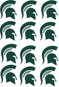 """Michigan State Spartans Cupcake Toppers Edible Image 2"""" Frosting Circles"""