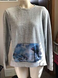 Star Wars AT-AT Walker On The Byas Pullover Sweatshirt Men's Size Medium