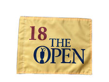 Undated British Open Championship  Souvenir  Flag PGA Tiger Woods Jack Nicklaus
