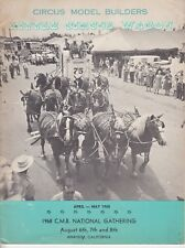 Little Circus Wagon Magazine April May 1968 Circus Model Builders 24 pages / b6