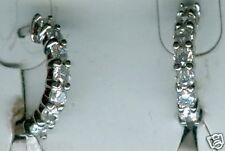 """Huggie Hoop Earrings ~ Great Gift! 925 Sterling Silver Cubic Zirconia 1/2"""""""