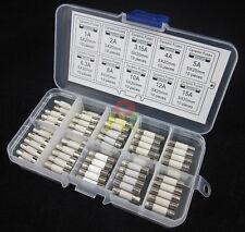 100pcs Ceramic Fuses Assorted 5x20mm Fast blow 1A2A3.15A4A5A6.3A8A10A12A15A Amp