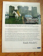 1968  Ford Cortina Ad Most Exciting English Transportation since Lady Godiva's