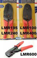 Crimping tools for LMR600/400/240/195/100, RG8U/213/214/8X/58/316/174 coax cable