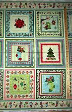 "Home for the Holidays Tree Ornament Benartex Christmas Fabric Panel 23""  #03260"