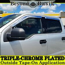 2015-2018 Ford F150 Super Crew Cab 4PC Chrome Door Vent Window Visor Rain Guards