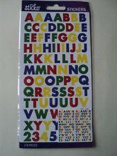 E K Éxito Sticko principal Futura Bold pequeñas Pegatinas del Alfabeto BNIP * Para ver *