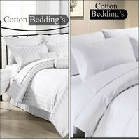 1000 TC 100% Egyptian Cotton 2pc Pillow Case Hotel Quality White Solid/Striped