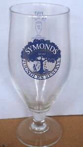 NEW UK / BRITISH - SYMONDS FOUNDER RESERVE CIDER PINT BEER GLASS (2017)