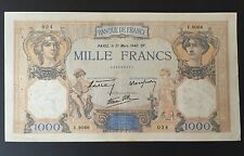 "1000 FRANCS "" CERES et MERCURE "" 21 MARS 1940 BILLET FRANÇAIS en ETAT pr.TB -"