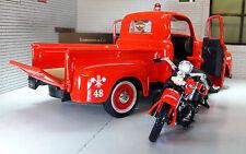 G LGB 1:24 Scale Maisto Fire Engine 1948 Ford F1 1936 Harley Davison Model Truck