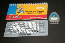 Mickey and Friends Cricut cartridge LINKED with booklet overlay NO BOX