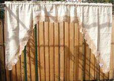 Vintage Style Ecru Hand Crochet Lace Edge Swag/Cafe Curtain