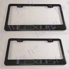 "1x 3D /""LexusEmblem Style/"" Aluminum Mirror CHROME Front Plate RUST FREE logo"