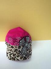 KBETHOS Pink & Black Ladies Baseball Hat Leopard Cross Rhinestones   * NEW *
