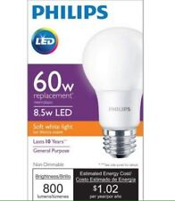 Philips 60W Equivalent Soft White A19 LED Light Bulb