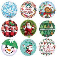 Christmas Foil Balloons Xmas Party Table Decorations Gift Santa Snowman Tartan