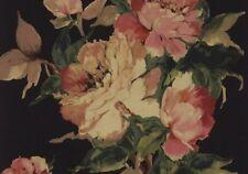 1703-108-06 - Camellia Large Bold Flowers Ebony 1838 Wallpaper