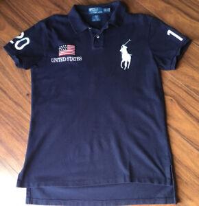 Polo Ralph Lauren USA Olympic Team Vancouver 2010 Big Pony Shirt Mens Sz Medium