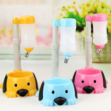Pet Dog Rabbit Water Food Dispenser Cat Bird Hanging Bottle Auto Bowl Feeder Kit