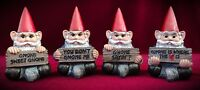 Gnome statues - Minis - Set of 4 - Cute Home Decor Miniature Gift