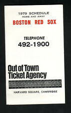 Boston Red Sox--1979 Pocket Schedule--Out of Town Ticket Agency