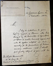 Italian Ambassador to London Signed Letter 1904 re Guido Yule Gigloli