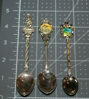 LOT OF 3 VINTAGE SOUVENIR COLLECTOR SPOONS, TAHITI, MANILA, & BAY OF ISLANDS NZ