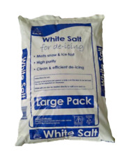 25KG WHITE ROCK SALT GRIT ICE SNOW WEATHER FOR STEPS DRIVEWAY PATHS