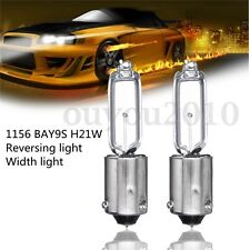 2x BAY9S H21W Halogen Light Bulb Backup Indicator Fog Car Lamp 12V 1.9A 250LM