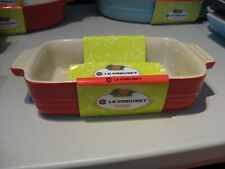 """Solid Red Le Creuset 7"""" x 4.5"""" Rectangular Baking Dish Freezer to Oven"""