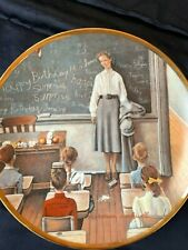 Norman Rockwell Collector Plate 8� The School Teacher From America At Work Serie