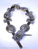 Navajo Indian Sterling Concho Belt - c. 1920-1930  - Fine Workmanship