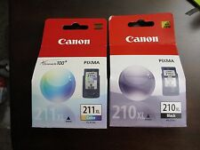 NIB Canon PG 210 XL Black CL 211 XL Multicolor ink cartridges FREE PRIORITY SHIP